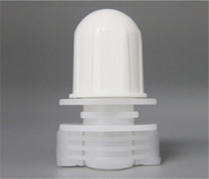 12mm Oval Shape White Plastic Spout Cap Customized For Cleanser Bags